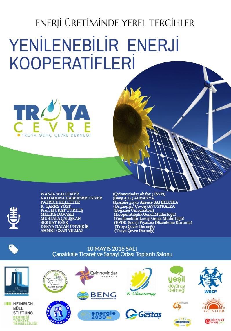 I. Yenilenebilir Enerji Kooperatifleri Konferansı – 2016